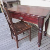 1880s teacher's desk and chair