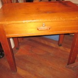 1950s teacher's desk L92 W88 H76
