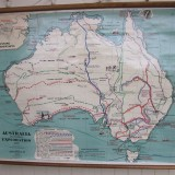 Map of Australian Exploration W120 H90