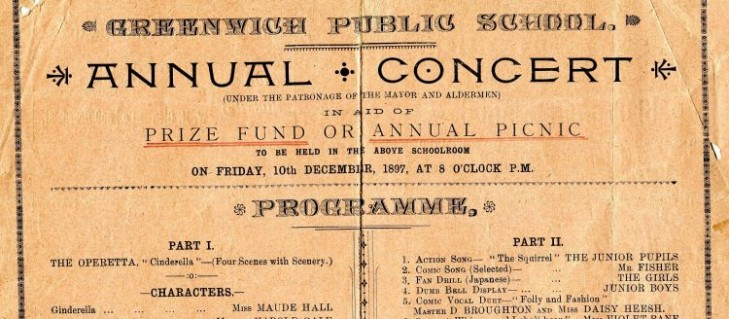 Greenwich PS Concert Program 1897