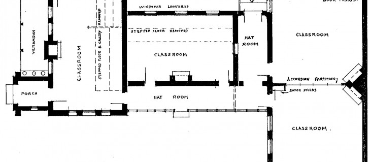 Floor plan of the 1910 extensions to the North Ryde PS buildings