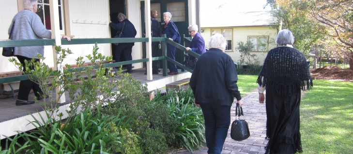 A group of war widows organised a group tour of the museum