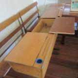 1950s dual flip top student desk L105 W86 H80