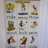 1960s wall chart W60 H80