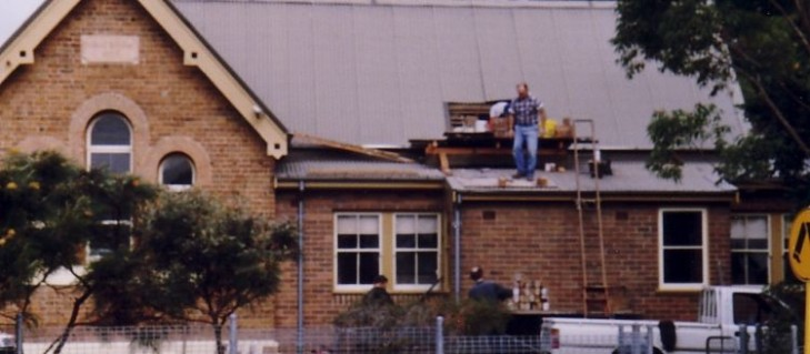 The restoration of the schoolrooms started in 1989.