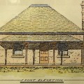 Drawing of the Teacher's residence at North Ryde Public School.
